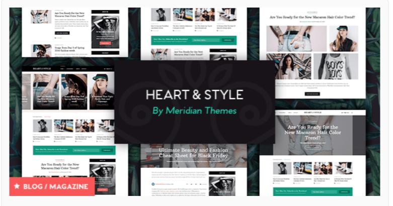 Heart & Style - Fashion WordPress Themes