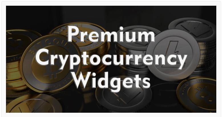 Premium Cryptocurrency Widgets for WordPress