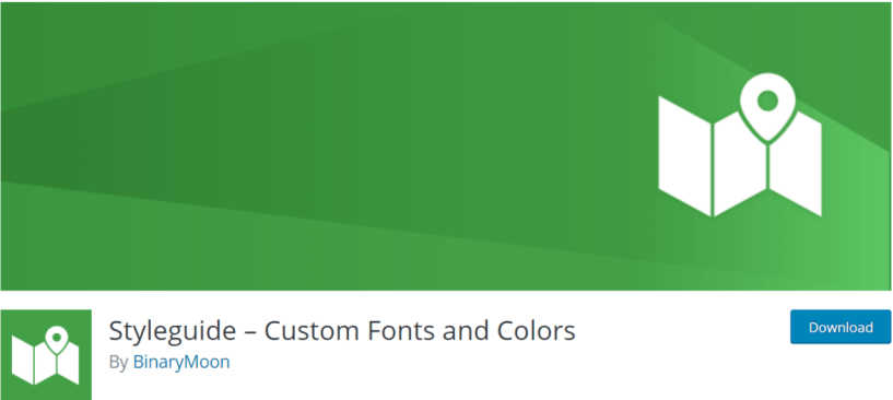 Styleguide – Custom Fonts and Colors — Typography WordPress Plugins