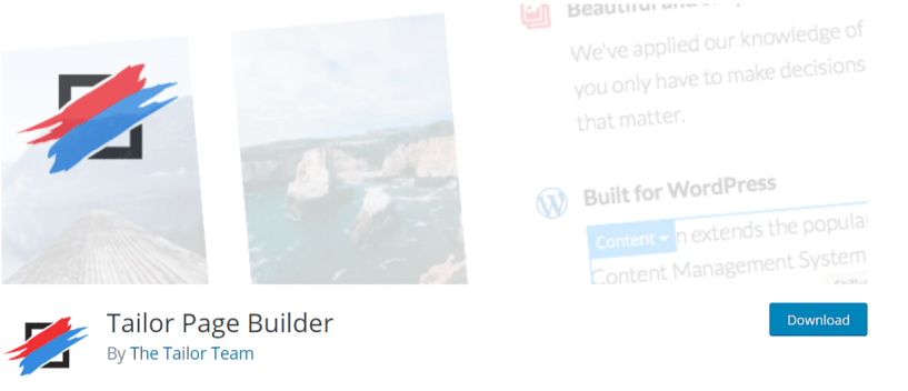 Tailor Page Builder - WordPress Page Builder Plugins