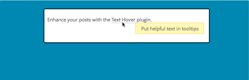 Text Hover — Typography WordPress Plugins