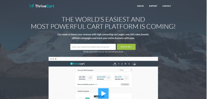 Under 600  Landing Page Software Samcart
