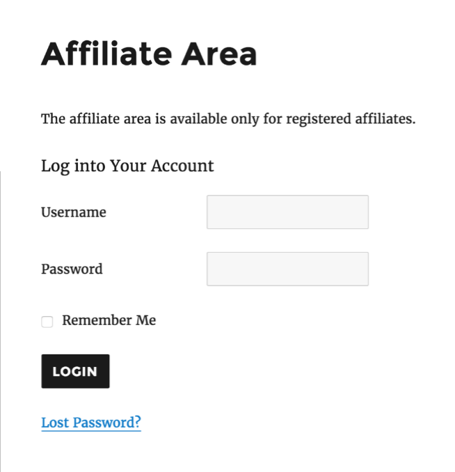 Affiliate Area- AffiliateWP Review
