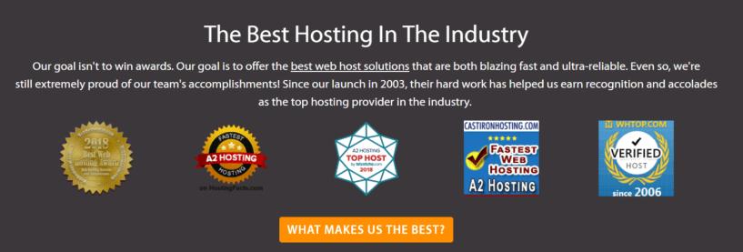 Awards Winning Web Hosting Provider- A2 Hosting Provider