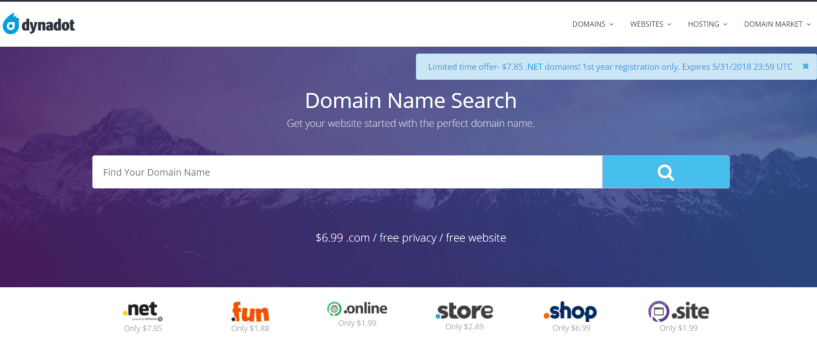 Domain Name Registration -Dynadot Review