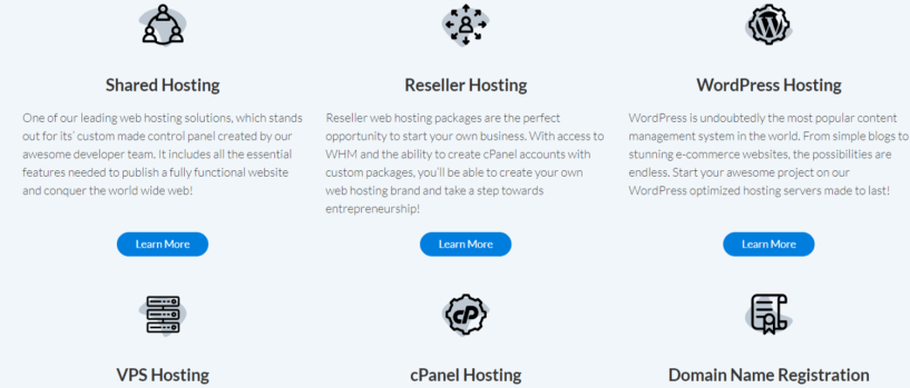 Products and Services- Hosting24 Review