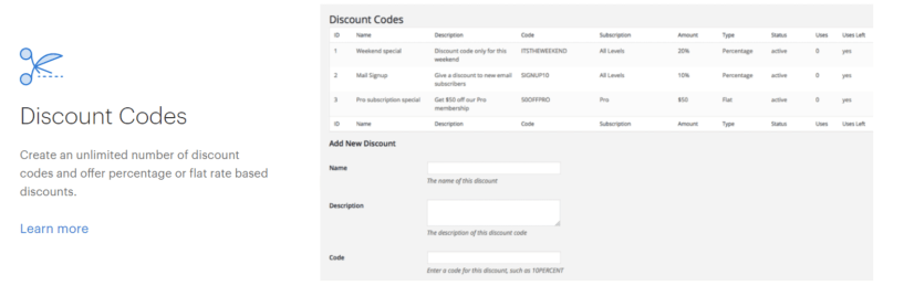 Restrict Content Pro Review- Creating Coupons Codes