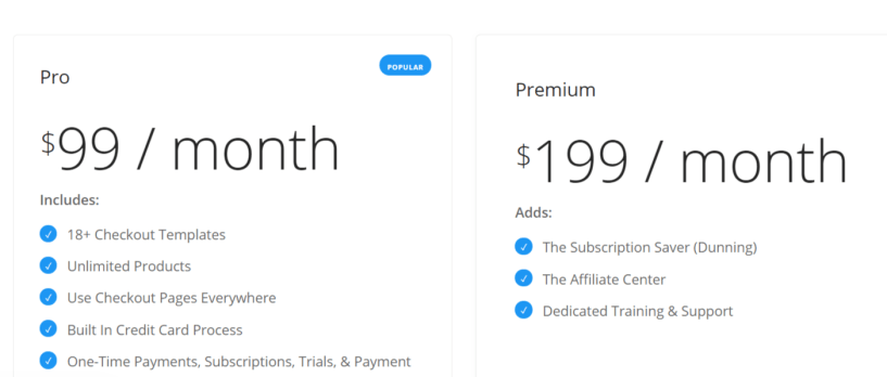 SamCart Pricing- ThriveCart Vs SamCart Vs PayKickStart