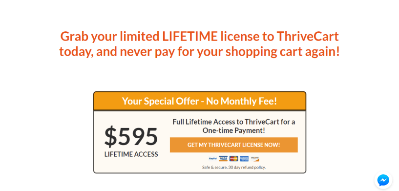 Thrivecart pricing review
