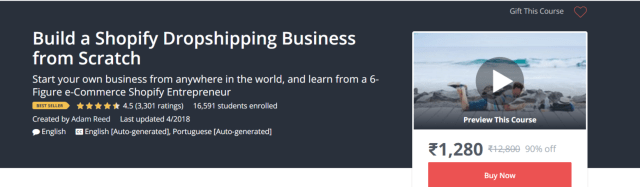 Udemy Courses- Find Winning Shopify Products