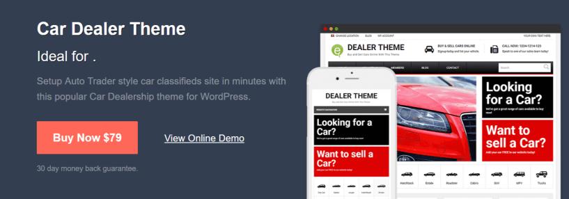 WordPress Car Dealer Theme - PremiumPress Review