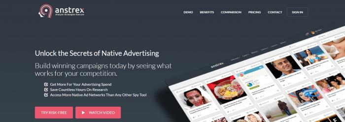 Anstrex- Best Ads Spy Tools