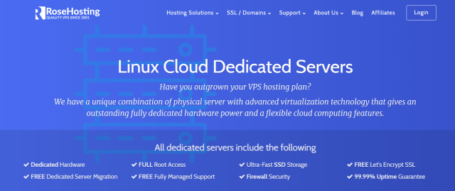 RoseHosting Review With Coupon Codes - Linux Dedicated Cloud Servers