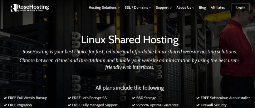RoseHosting Review With Coupon Codes- Linux Shared Hosting