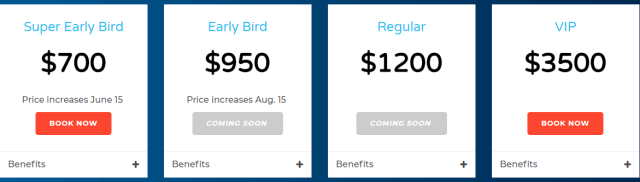 ascent conference 2018 ticket pricing
