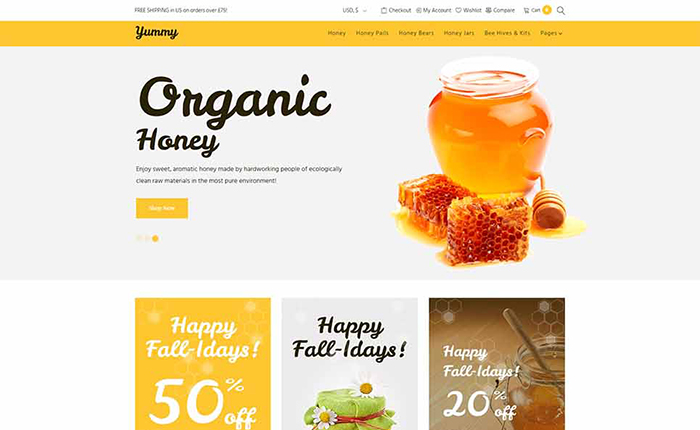 Honey Store WooCommerce Theme