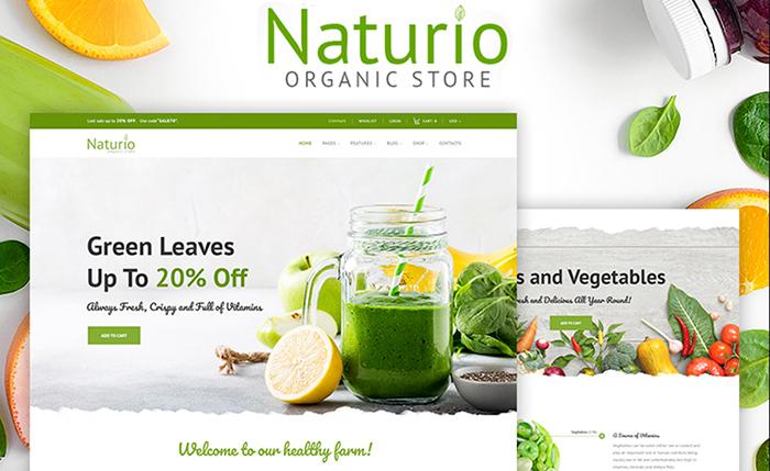 Naturio Food Store Template WooCommerce Theme