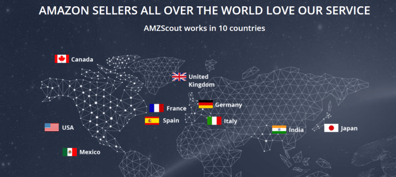 AMZScout Review- Location Coverage Of AMZScout Tool