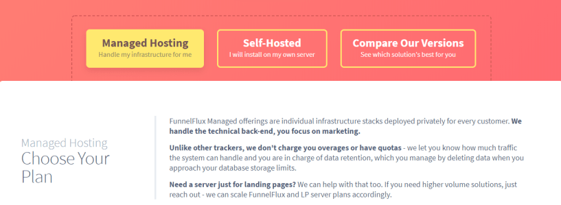FunnelFlux review - managed hosting