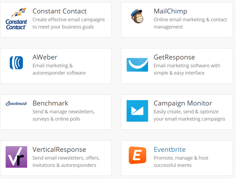 Wishpond Review- Email Marketing Integrations