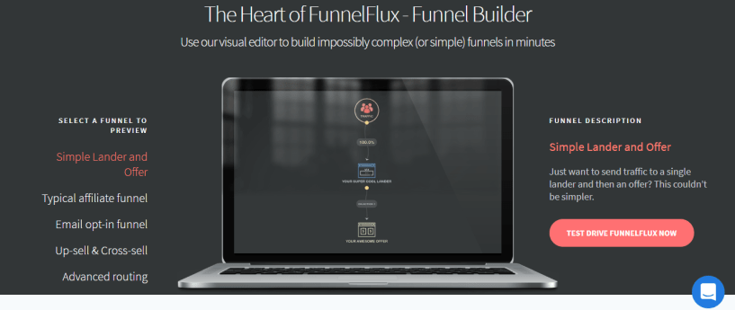 funnel flux landing page