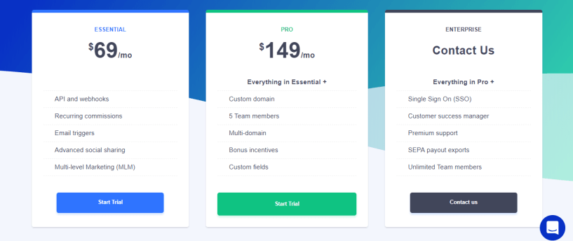 tapfiliate review pricing