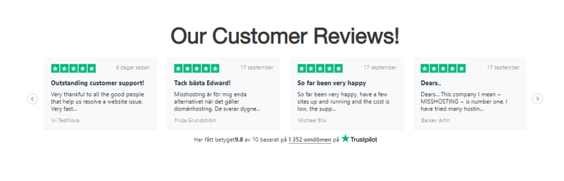 Miss Hosting Review- Customers Reviews