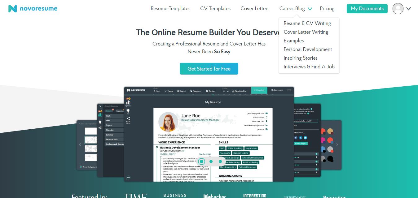 novoresume review 2018  try the best resume builder for