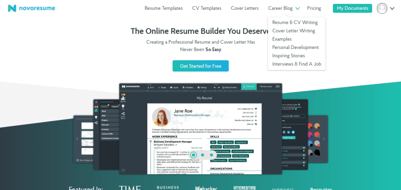 novoresume review 2019 try the best resume builder for