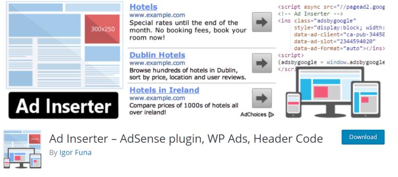 Ad Inserter Review – AdSense plugin WP Ads Header Code