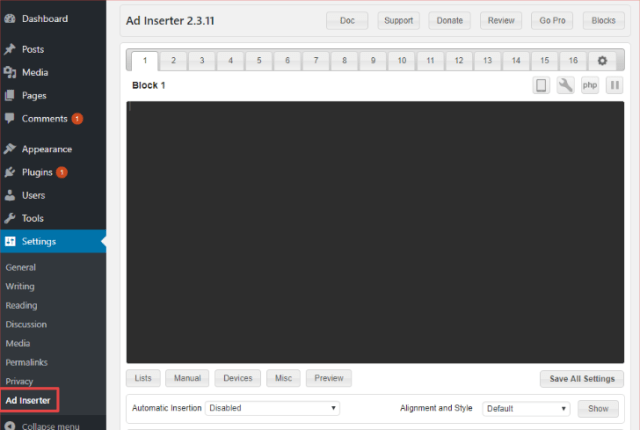 Ad Inserter Review- Create Your Ads Here