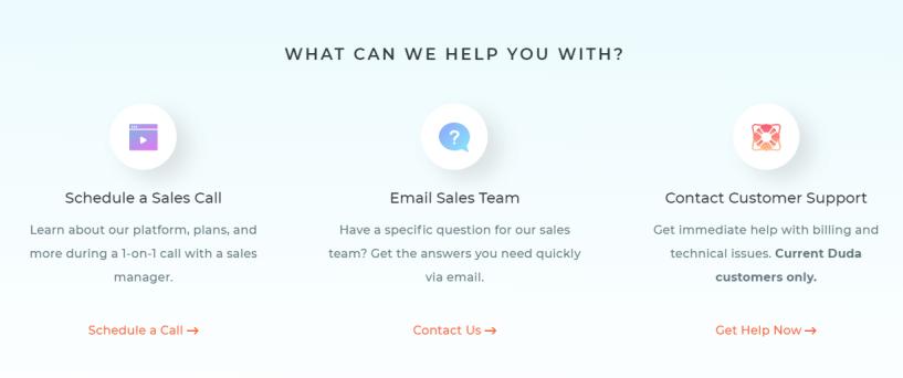 Duda Website Builder Coupon Codes- Customer Support