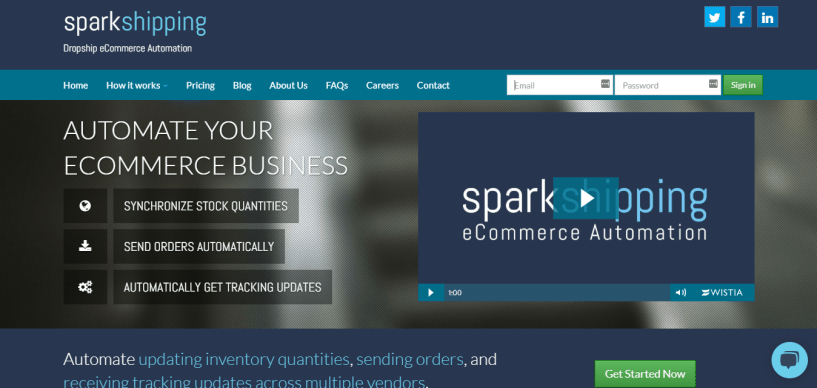 Sparkshipping dropshipper tool