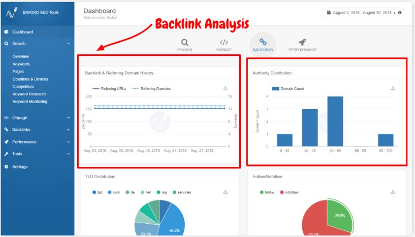 Bavoko SEO Tool Review- Backlink Analysis
