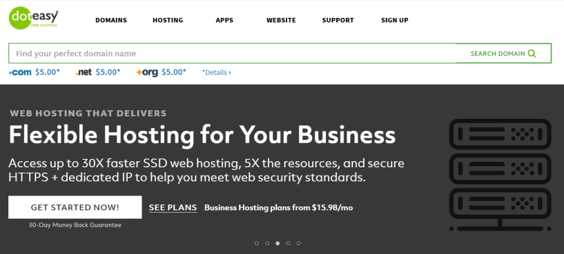 Doteasy Review- Web Hosting Domain Names