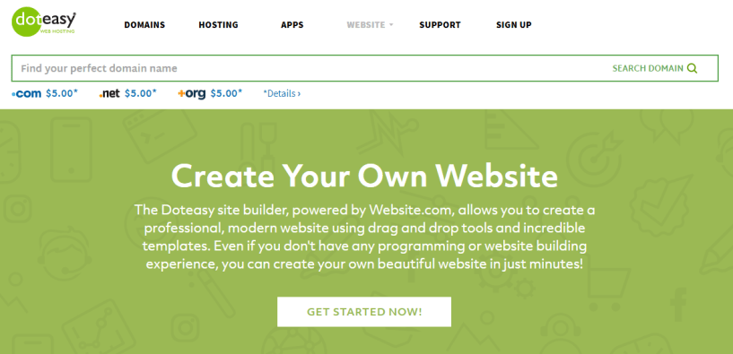 Doteasy Review- Website Builder