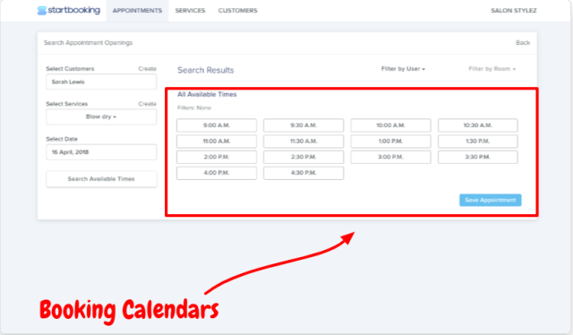 Start Booking Review- Booking Calendars