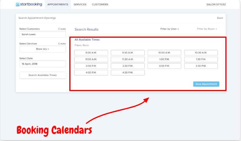 Start Booking Review- Booking Calendars