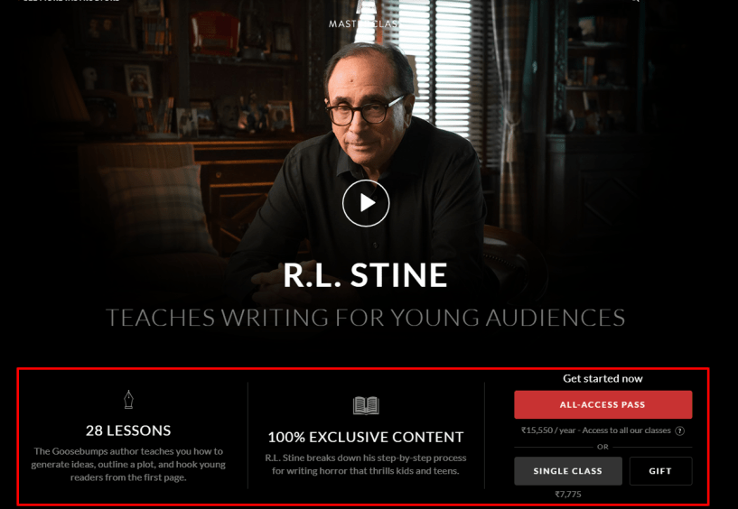 MasterClass Review- R L Stine Teaches Writing Children s Books
