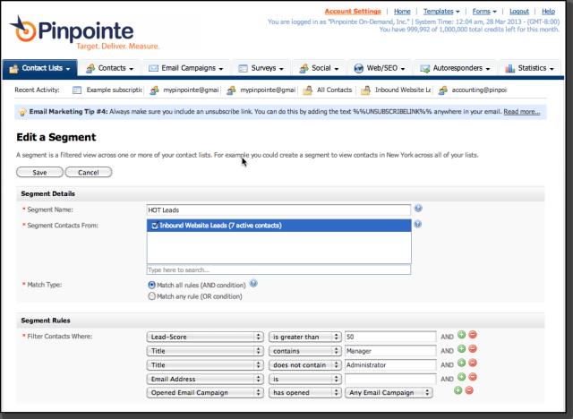 free pinpinte email marketing