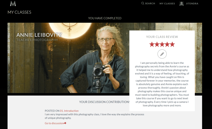 Masterclass reviews photography classes