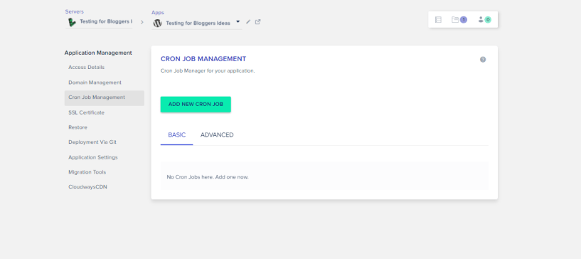 Cloudways Review- Cron Job Management