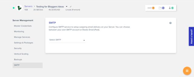 Cloudways Review- SMTP