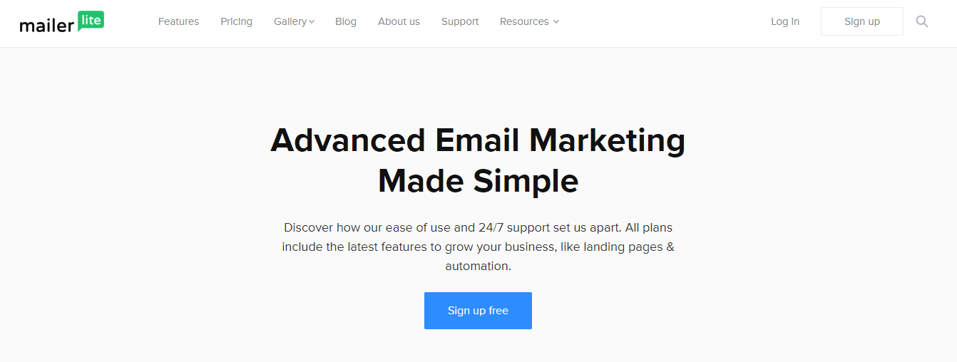 Features For  Email Marketing Mailerlite