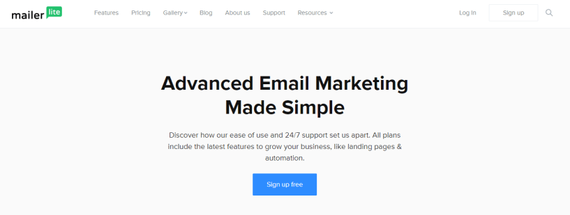 MAilerLite review for email