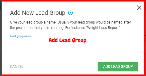 Thrive Leads Review- Add Lead Groups