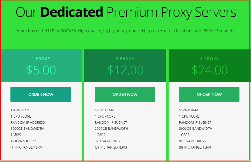 VirMach Review - Premium Private SOCKS Proxy Pricing Plans
