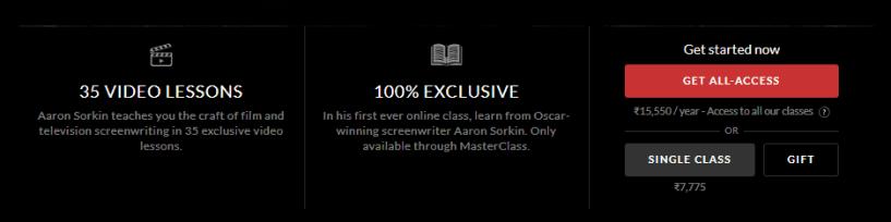 Aaron Sorkin MasterClass- Screenwriting Review