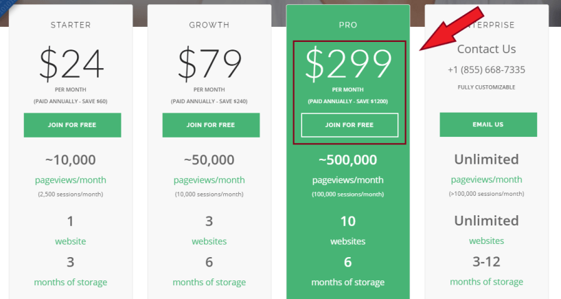 MouseFlow Review- Pricing Plans