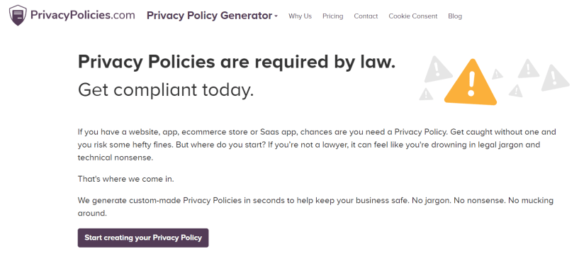 Privacy Policies Review- 1 Privacy Policy Generator Free GDPR CalOPPA
